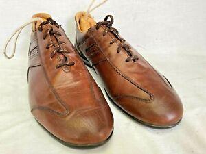Allen Edmonds Mens Peyton Brown Leather Oxfords Driving Shoes Size 10 D VG Cond.