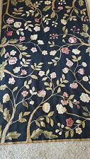 ANTIQUE FRENCH COUNTRY ROSES  NEEDLEPOINT RUG HANDMADE  OR TAPESTRY