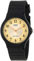 Casio Men's Analog Quartz Black Resin Watch MQ24-9B3