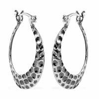 925 Sterling Silver Elegant Fashion Hoops Hoop Earrings Jewelry Gift for Women