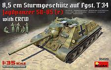 MINIART #35229 WWII German Jagdpanzer SU-85 (r) w/Crew in 1:35