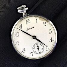Ferreri Pocket Watch Hand Watch Watch Pocket Tasca Vintage 41,8mm Working