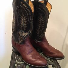 TONY LAMA Men Boots Leather Country Western Cowboy Size 9 EE 6705