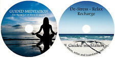 GUIDED MEDITATION X 2 CD's:FOR STRESS & ANXIETY, DE-STRESS RELAXATION + MUSIC