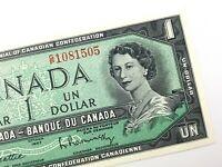 1967 Canada One 1 Dollar Uncirculated GP Prefix Beattie Rasminsky Banknote R710