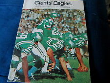1968 NEW YORK GIANTS vs EAGLES - PROGRAM - YANKEE STADIUM  NOV. 17, 1968