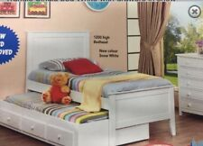 Captain King Single bed Trundle White with drawers BARGAIN SAVE !! Kids New