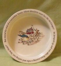 """Wedgewood Etruria Peter Rabbit Child Porridge Bowl 6.5"""" McGregors Garden England"""