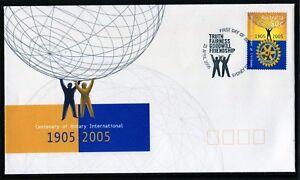 2005 Australia Centenary Of Rotary International 50c Sheet Stamp FDC, Mint Cond