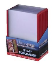 Ultra Pro RED TOPLOADER x 25 Rigid Card Protector Pokemon Yugioh TOP LOADERS