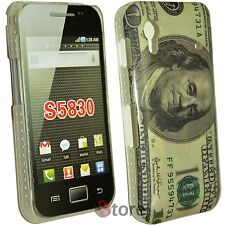 Cover Custodia 100 Dollari Per Samsung Galaxy Ace S5830 Dollaro + Pellicola