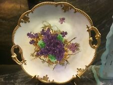 """Beautiful Vintage LIMOGES Hand Painted Lilac Cake Platter France 11"""""""