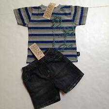 Charlie Rocket Boutique Brand Boys Short Set Size 12-18mo~Rhinoceros~New Tags
