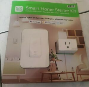 2 Pack Wemo Smart Home Starter Kit Wifi Smart Plug and Switch alexa, Hey Google