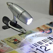 Clip Reading Lamp Mini Book Light LED Flashlight Bullet Shaped Lamp