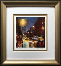 """Ken Keeley """"Prince Street"""" Hand Signed & # FRAMED Art New York City Twin Towers"""
