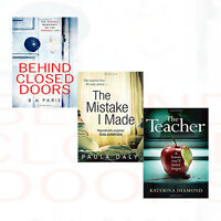 B A Paris Behind Closed Doors 3 Books Set The Mistake I Made ,The Teacher New
