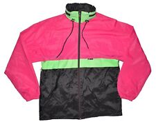 K-Way Vintage Windbreaker Full Zip Mens Large Packable Pink Green Black