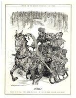 Liberty to Czar Nicholas II Use Duma to Escape Wolves of Anarchy Punch Cartoon