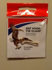Eagle Claw 24K Gold plated Hat Hook / Tie Clasp New