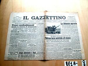 SECONDA GUERRA IL GAZZETTINO ANNO LVI N° 215  8 SETTEMBRE   (8E1A-3)