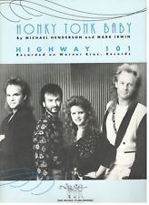 """HIGHWAY 101 """"HONKY TONK BABY"""" SHEET MUSIC-1992-PIANO/VOCAL/CHORDS-NEW ON SALE!!"""
