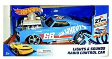 HOTWHEELS HOT WHEELS  LIGHTS & SOUNDS 68 BLUE RADIO REMOTE CONTROL CAR AGES 3+