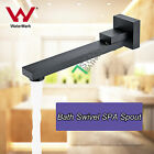 SQUARE SWIVEL BLACK BRASS BATH BASIN WATER OUTLET WALL SPOUT FAUCET WATERMARK