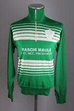 Bocce wool vintage Milanese Shirt Gr. M unione bocciofila italiana BW 48 ES1