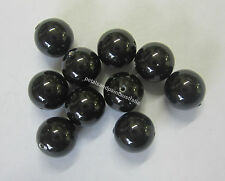 10 Swarovski Crystal Pearl Beads 8mm Bead Mystic Black Beading Jewellery SWK3605
