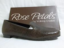 Rose Petals By Walking Cradles Size 6 Wide Foster Brown Leather New Womens Shoes