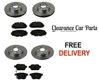 FOR TOYOTA PRIUS 1.8 HYBRID FRONT AND REAR BRAKE DISCS AND PADS 2009 TO 2016