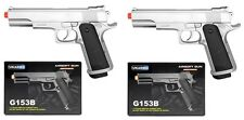 "2x UK ARMS 8.25"" 1911 Replica Airsoft Pistols Handguns Guns w/BBs Air Soft G153S"