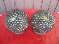 SUPERBE PAIRE  BOULES CLOUTEES XIX EME 1900 MONOGRAMME 6 / OLD FRENCH GAME BOWLS
