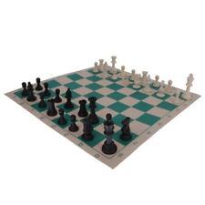 Juego de ajedrez de plástico portátil Roll Up Mat Tubo en forma de caja de