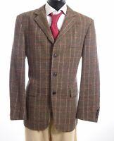 HUGO BOSS Sakko Jacket Sunderland Gr.52 braun kariert Einreiher 3-Knopf -S741