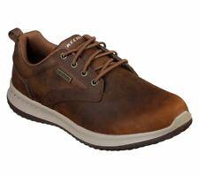 Skechers 65693 Delson Antigo Mens Waxy Brown Leather Waterproof Slip On Shoes