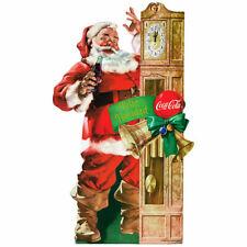 Coca-Cola Santa Grandfather Clock Wall Decal 14 x 24 Feliz Navidad Vintage Style