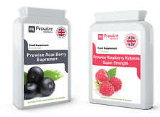 120 Acai Berry 1000mg 60 Rasberry Ketones 600mg Weight Loss Slimming ComboDeal