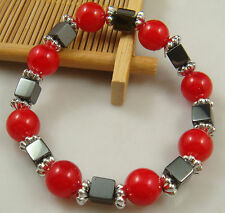 1x fashion accessories charm bead spacing haematite Stretch Bracelet hot 18jgr