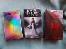 Tarot Card Decks LOT OF 3 ANGEL Tarot OCCULT Tarot HEAVEN&EARTH Tarot Card DECKS