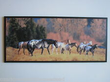 Horses Appaloosa Wall Decor country lodge style wild horse picture Mustangs