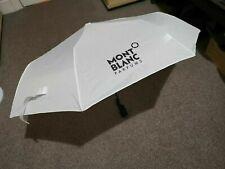 Mont Blanc Weiß Schirm Unisex faltbar Smart automatisch öffnen Geschenk für ihm ihre