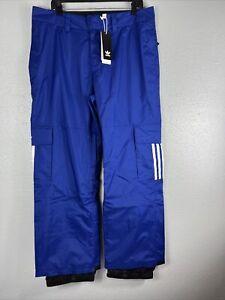 $180 Adidas 10K Cargo Snowboarding Pants Men's Size L Large FJ7496 Blue New