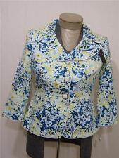 $139 Alex Notch Lapel Button Floral Green Beach Jacket 8P 8 P Coat Blazer Womens