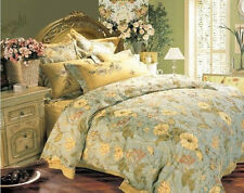 6 PCS  Gorgeous Luxury King Size Bedding Duvet Comforter Cover with Embroidery