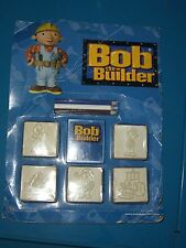 Bob The Builder Wood Backed Rubber Ink Stamps Toy Multiprint Moc