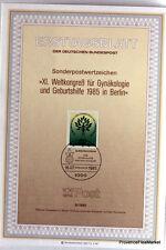 ALLEMAGNE BERLIN GYNAKOLOGIE  Ersttagsblatt Bundespost  9/1985