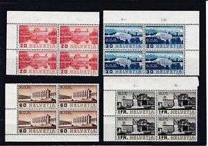 1938 Arbeitsorganisation und Völkerbund Mi. 321 - 324 Postfrisch **4er Blöcke