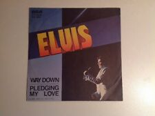 ELVIS PRESLEY. WAY DOWN - PLEDGING MY LOVE 45Rpm Promo Italy RCA 1977